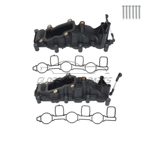 New 2 Intake Manifold Left Right For Audi Q7 A4 A6 VW TOUAREG PHAETON PORSCHE 2.7 3.0 TDI  059 129 711 CK 059 129 712