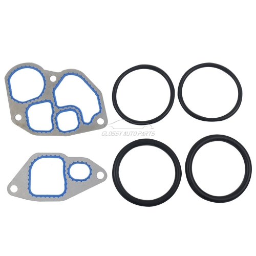 Diesel Oil Cooler Gasket Kit with O-rings For Ford E250 E350 E450 F250 F350 7.3L Diesel Engine 1815904C2 F4TZ6A636A 1C3Z6A642AA 904225 1C3Z6C610BA F7T